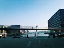bridge in copenhagen denmark modern architecture von Kirsty Lee