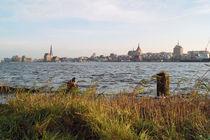 Rostock am Warnowufer III von Sabine Radtke