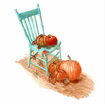 Pumpkin Fall Scene von Linda Ginn