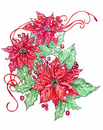 Snowy Poinsettias by Linda Ginn