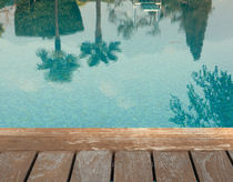 poolside reflection  von lsdpix