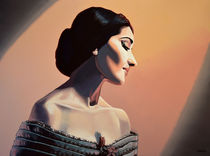 Maria Callas painting by Paul Meijering