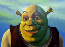 Shrek painting by Paul Meijering