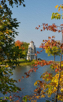 Looking Through Fall Colors To Leech Lake by John Bailey