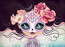 Camila Huesitos Sugar Skull by Sandra Vargas