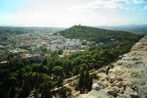 Blick über Athen zum Meer von Sabine Radtke