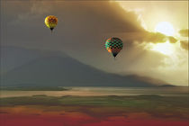 Hot Air Balloons At Sunset von tomyork