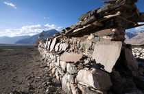 Buddhist engraved prayer stones, Ladakh von studio-octavio