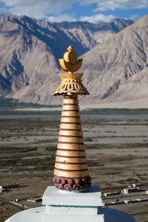 Golden Buddhist chortens (spires) of Ladakh by studio-octavio