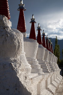 Buddhist Stupas at Thiksey, Ladakh by studio-octavio