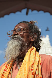 Indian Sadu holy man at Hindu temple 1 by studio-octavio