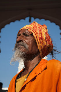 Bearded Indian Sadu holy man 2 von studio-octavio