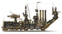 Steampunk Land Crawler M3 H1 Cutaway  von studio-octavio