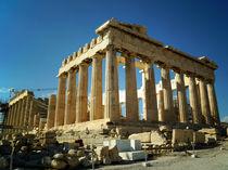 Der Parthenon auf der Akropolis in Athen von Sabine Radtke