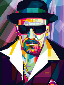 Ultimate Gangster Pop Art Contemporary artist Conqr Breaking heisenberg by Unpublic Artists