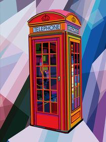 Telephone Booth vintage 3d digital pop art contemporary London artist Conqr by Unpublic Artists