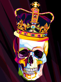Skull Pop Art Contemporary Digital Artist Conqr von Unpublic Artists