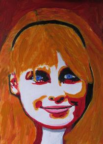 Portrait einer lächelnden Frau von Klaus Engels