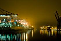Nachts am Containerterminal von Thomas Ulbricht