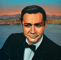 Sean Connery as James Bond painting von Paul Meijering