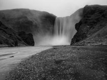 Waterfall black and white by Christine Baumgartner