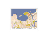 San Sebastian City Map ( Calima, Alto) von planimetrica