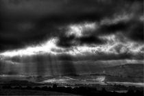 Regenwolken über Tenovice von Helge Lehmann