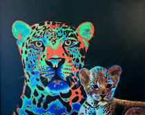 Leopard and Cub von Keith Alway