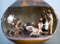 Christmas card Nativity in a Gourd by mbk-wildlife-photography