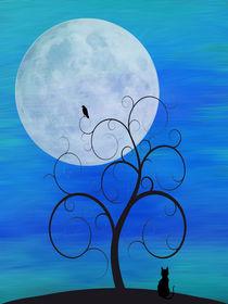 Blue Moon Cat by dreambeyondart