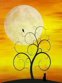 Autumn Moon Cat by dreambeyondart