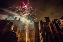 Fireworks in the ruins of Dunmore Park House. by Buster Brown Photography