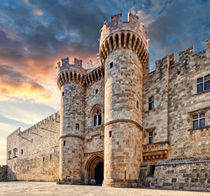 The Palace of the Grand Master in Rhodes, Greece by Constantinos Iliopoulos