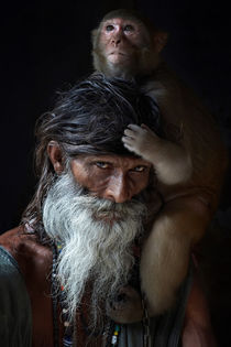 Portrait of sadhu by gilles lougassi