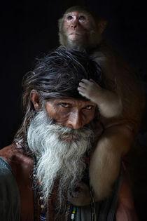 Portrait of sadhu von gilles lougassi