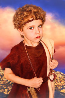 Portrait of David in Children's Bible Imagery by Söndra Rymer