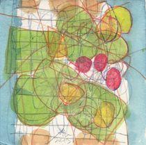 Landschaft mit zwei roten Punkten von Wolfgang Wende
