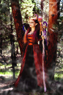 Maleficent Fairy Magic in the Forest by Söndra Rymer