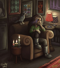 raven and candles by sushy