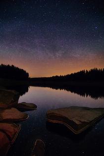 Sternenhimmel über dem Oderteich von Christian Kreutzmann