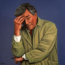 Peter Falk as Columbo painting by Paul Meijering