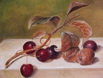 Kirschen am Zweig von Dorothy Maurus