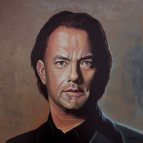 Tom Hanks painting by Paul Meijering