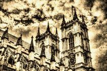 Vintage effect image of Westminster Abbey London by David Pyatt
