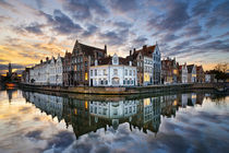 Sunset in Bruges, Belgium by Michael Abid