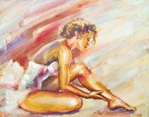 Beautiful ballerina sitting. von valenty