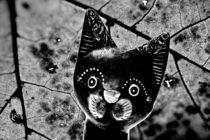 Woodcat black and white von leddermann