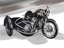 BMW Motorrad mit Beiwagen, schwarz von rdesign