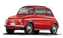 Fiat 500 rot by rdesign
