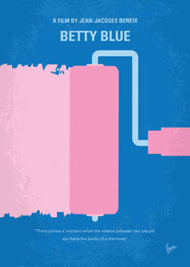 No359 My Betty Blue minimal movie poster by chungkong